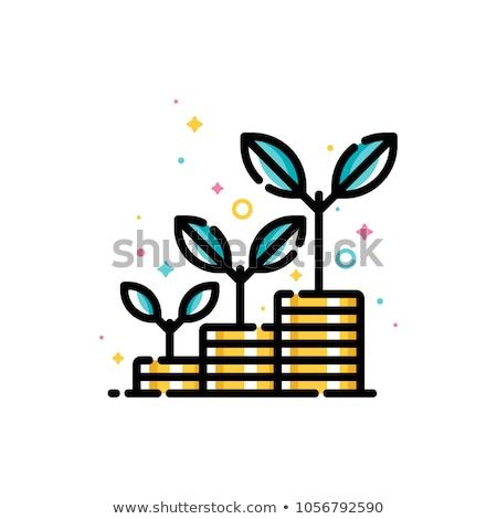 Tohumları ekonomik büyüme pound madeni para Stok fotoğraf © rogerashford