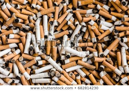 Stockfoto: Sigaret · geïsoleerd · witte · vlam · lifestyle
