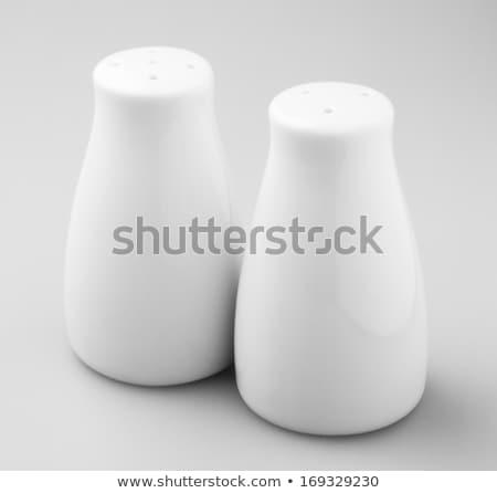 sal · aislado · blanco · vidrio · macro - foto stock © shutswis
