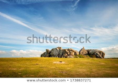 Foto stock: Casas · rocas · hermosa · océano · Italia · mar