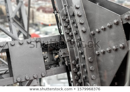 Painted Cast Iron Rivets Close Up Stock photo © Bertl123