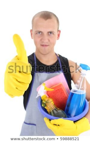 donna · delle · pulizie · segno · pulizia · signora - foto d'archivio © wavebreak_media