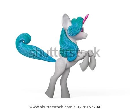 3D créature personnage pourpre bleu blanche Photo stock © Melvin07