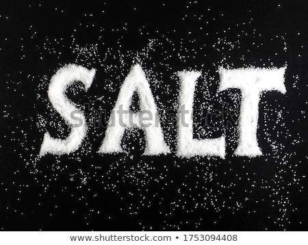Woord zout zwarte geschreven glas witte Stockfoto © deyangeorgiev