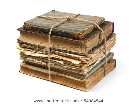 Old book with a crumpled sheet and hardcover isolated Stock photo © michaklootwijk