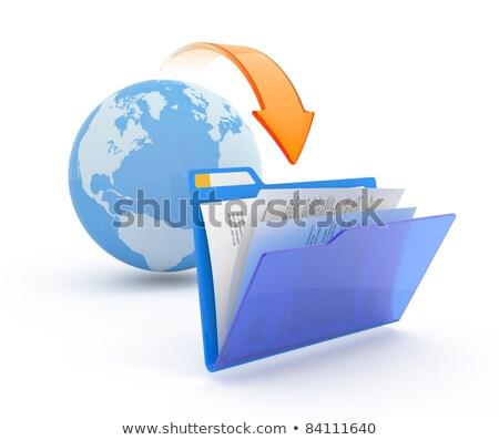 Downloaden map communicatie internet wereld Stockfoto © fenton