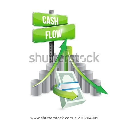 Street Sign - Cash Flow Photo stock © alexmillos