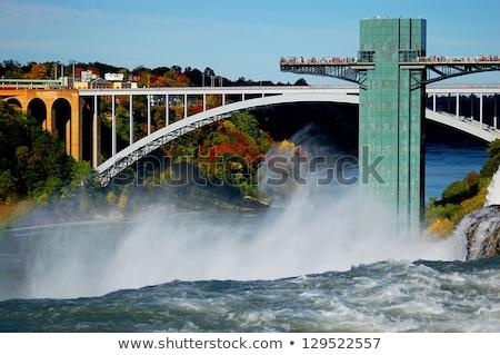 Regenboog brug Niagara Falls USA water landschap Stockfoto © saddako2