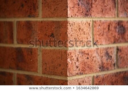 Tijolo canto borda vermelho construção argila Foto stock © lunamarina