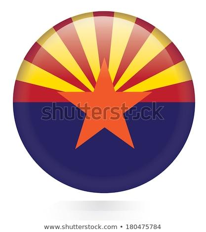 Przycisk Arizona Pokaż star kraju mapy Zdjęcia stock © Ustofre9