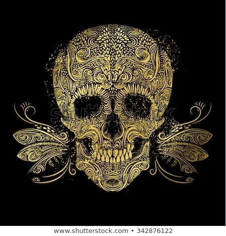 череп лозы дизайна иллюстрация винограда Cartoon Сток-фото © lenm