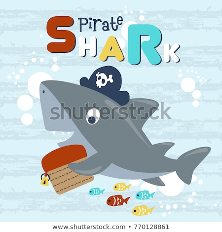 Shark Pirate  Stock photo © vector1515