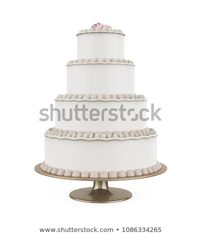 Stock photo: Big wedding cake