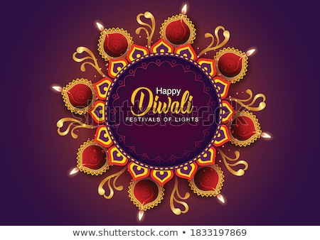 vector beautiful diwali diya colorful celebration crackers illus stock photo © bharat