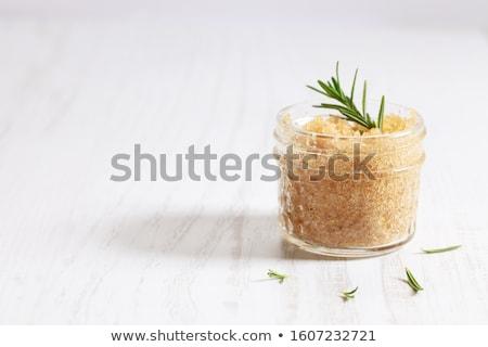 ブラウンシュガー スペース 文字 食品 背景 フレーム ストックフォト © grafvision