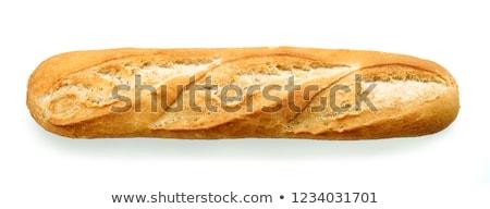 baguette · primer · plano · mesa · alimentos · pan · trigo - foto stock © m-studio