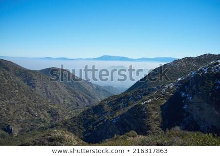 görmek · Santiago · Şili · güney · amerika · gökyüzü · şehir - stok fotoğraf © spectral