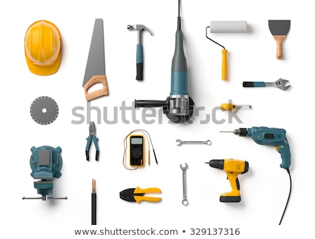 boîte · à · outils · clé · à · molette · propre · plastique · isolé · blanche - photo stock © zhekos