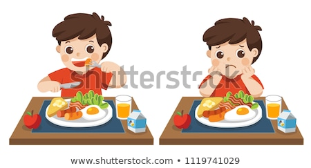 Stock photo: boy in a diners