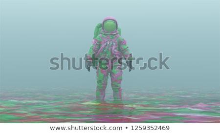 alienígena · espaço · lua · pistola · estrela - foto stock © rpcreative