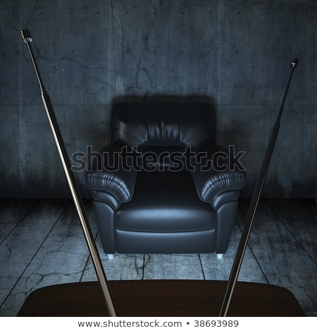 Photo stock: Grungy Room With A Couch And A Tv