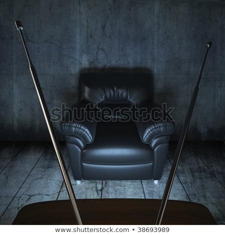 диван · кресло · домашнее · хозяйство · Элементы · большой · пусто - Сток-фото © arquiplay77