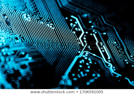 close up of computer circuit motherboard stock photo © artush