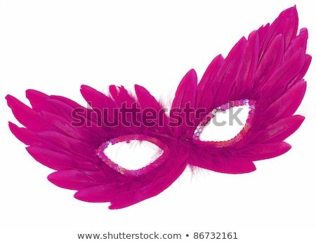 Pink feather over white background  Stock photo © tetkoren
