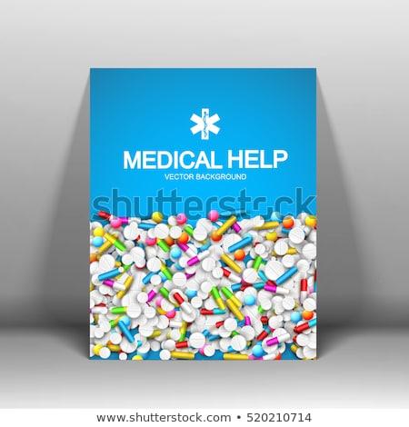 Tıbbi broşür renkli şablon simge yansıma Stok fotoğraf © bharat
