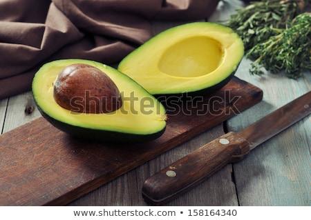 Fresh ripe halved avocado pear Stock photo © stryjek