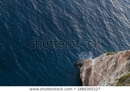 мнение высокий утес морем весны фон Сток-фото © fotoaloja