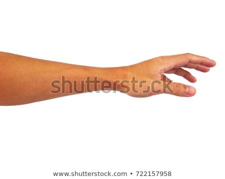 ázsiai · nő · kéz · tart · valami · teljes · alakos - stock fotó © szefei