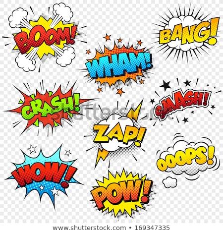 multicolored comic sound Effects  Speech Bubble Cartoon Stock photo © kiddaikiddee