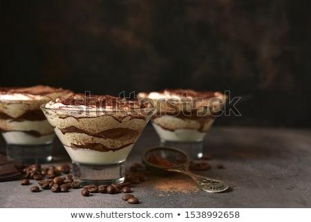 Tiramisu kwarktaart vruchten zomer dessert vers Stockfoto © M-studio