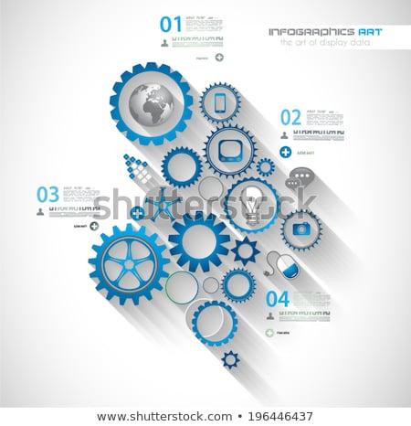 Flat UI design concepts for unique infographics Stock photo © DavidArts