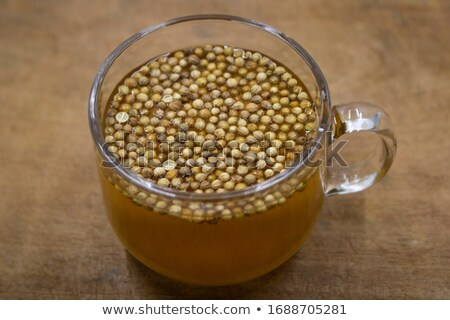 kurutulmuş · kişniş · tohumları · arka · plan · Hint · organik - stok fotoğraf © peterhermesfurian