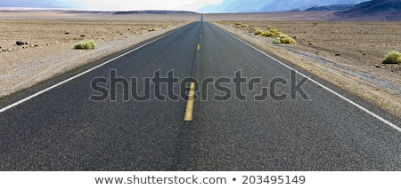 driving on the interstate 187 in death valley stock photo © meinzahn