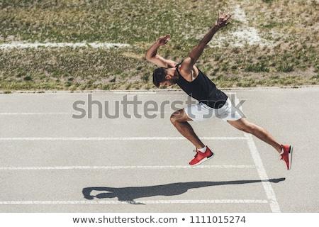 corrida · seguir · céu · textura · abstrato · pintar - foto stock © brunoweltmann