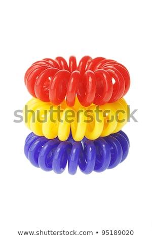 Kleurrijk spiraal elastisch haren schoonheid band Stockfoto © dezign56