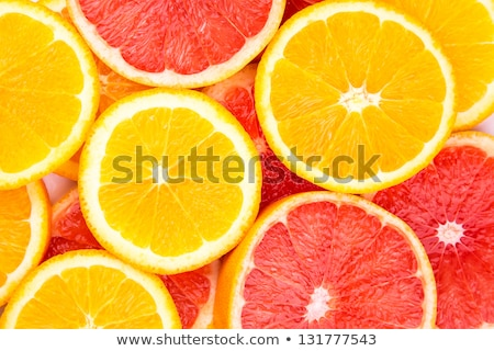 Ripe Red Oranges And Grapefruits Cut By Rings Foto d'archivio © Len44ik