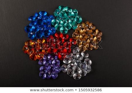 természetes · szín · drágakövek · textúra · divat · háttér - stock fotó © jonnysek