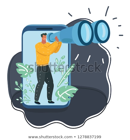 Data Collection through Magnifying Glass. Stock photo © tashatuvango