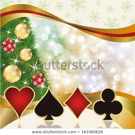 Natale · poker · felice · nuovo · 2015 · anno - foto d'archivio © carodi