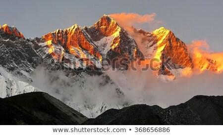 or · lumière · montagne · ciel · soleil · fond - photo stock © 1Tomm