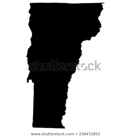 Mapa Vermont papel fundo viajar cartão Foto stock © rbiedermann