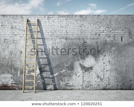 escalera · pared · metal · marco · piso · arquitectura - foto stock © GeniusKp