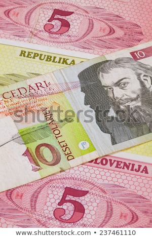 Different Tolar banknotes from Slovenia on the table Stock photo © CaptureLight