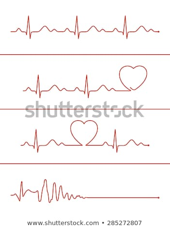 Cardiograma coração amor ilustração vetor formato Foto stock © orensila