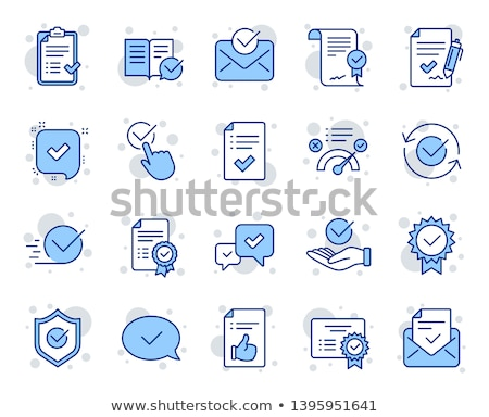 certified blue vector icon button stock photo © rizwanali3d