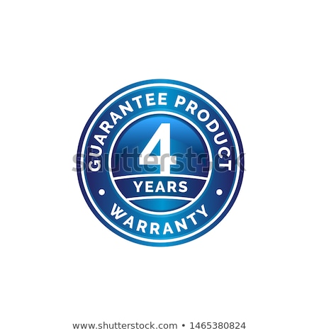 évek garancia kék vektor ikon terv Stock fotó © rizwanali3d